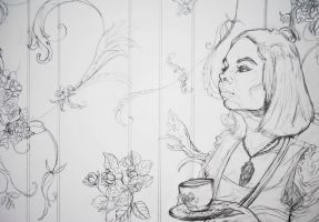Line Work for an upcoming painting by Britan