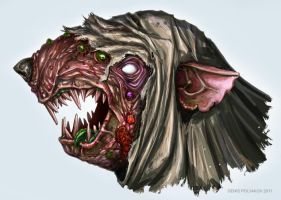 Mask Pestilens skaven (sketch) by DenisPolyakov