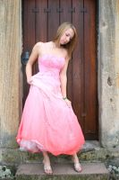 Pink dress stock 06 by Malleni-Stock
