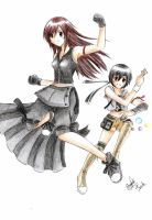 Tifa and Yuffie by SorenElrowien