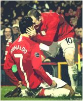 Ronaldo and Rooney by DaShiR