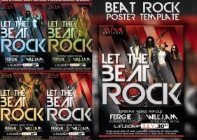 Beat Rock poster template by yuval10203