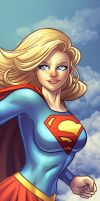 Supergirl Panel Art by RichBernatovech