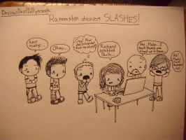 Rammstein Discovers Slashes by DeviousDevilDoll