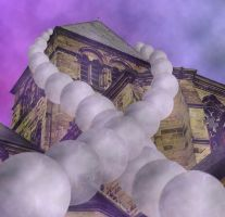 The church of the ghost orbs by Engill16