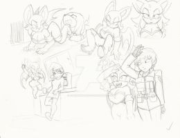 Rouge Doodle: Some stuff and some one else by OmegaSunBurst