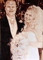 Wedding portrait pyrography by LUKAS-87