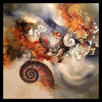 Ammonite work in progress by Amytea