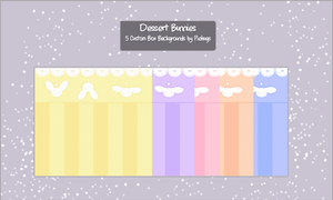 Dessert Bunnies .:Custom Box Backgrounds:. by Pieology