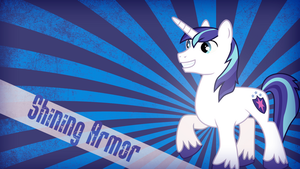 Shining Armor Wallpaper by HarukaDragneel