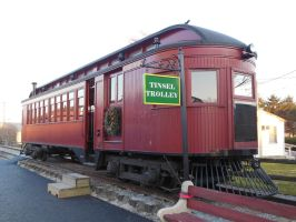 The Strasburg 'Tinsel Trolley' Railcar by rlkitterman