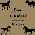 Equine Silhouettes 3 by rL-Brushes