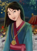 Mulan - Savior of China by RedRibbonRabbit