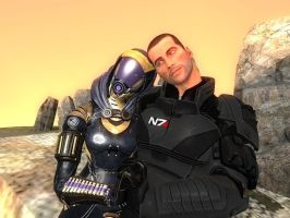 Tali and Shepard by johnshepard54