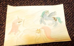 MLP young Luna and Celestia by NightmareDerpy