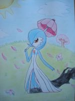 Shiny Gardevoir going for a walk by NIGHTSandTAILSFAN