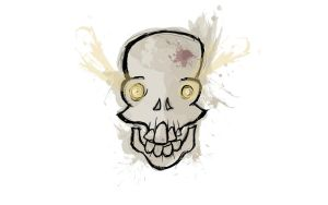 Mad Skull Wallpaper (White) by TemplarOfBacon