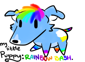 My Little Puppy: RainbowBash CLOSED by TheAdoptShop
