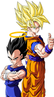 goku and vegeta by maffo1989
