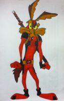Wile E. Coyote as Deadpool by reignfire77