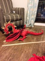 Smaug plush by griffin126