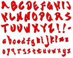 Ace Attorney Objection font by MapleRose