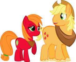AppleJack And Macareina by Itoruna-The-Platypus