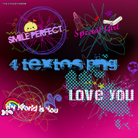 4 Textos PNG by TheSmileyShow