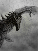Alduin's coming by Astarcis