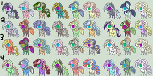 FREE Pony Batch 1 (OPEN) by CatastrophicSupernov
