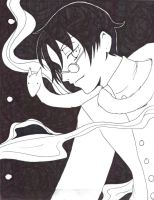 Watanuki and Pipe fox by Zetsu-Chibi