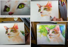Drawing Cat by ghozk