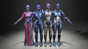 Asari model test1 by Vitezislav