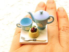 Tea Pot Cup Dessert Cake Ring by souzoucreations
