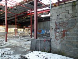 STOCK IMAGE factory in ruins by LamollesseStockImage