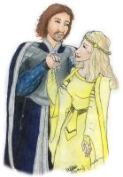 Eowyn and Faramir by Nebulan