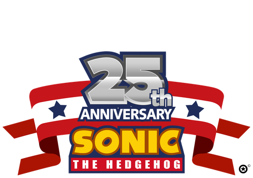 Sonic 25th Anniversary Flag Template by NuryRush