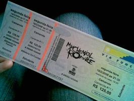 My Chemical Romance Ticket by Paups