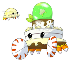 Crab Cake Pokemon by HallowDew