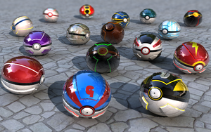 All Kind Of Realistic Pokeballs (v2) by FinnAkira