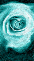 Baby Blue Rose Painting (Boredom) by WolfLover887