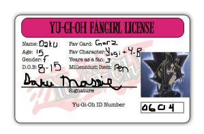 Fangirl License by AssassinMassie