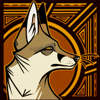 Commission - Art Deco Fox by BlueHunter