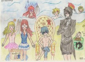 that butler, still in black, even at the beach :D by otakujeanette