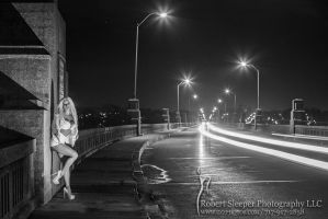 Kristie on the bridge... by RobertSleeper