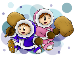 Popo and Nana: The Ice Climbers by SuperLakitu