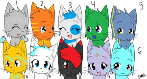 Adoptables set 2 by Manithewolf