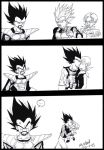 OLD DRAW:POOR KING VEGETA by Sandra-delaIglesia