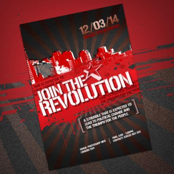 Join the revolution leaflet by photoshophive