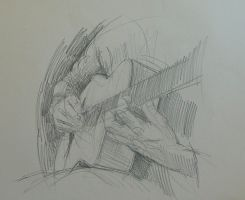 Hands study, Guitar by RFord-Art